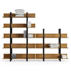 Ts Iron Bookcase Shelf Office Arrangement Interior