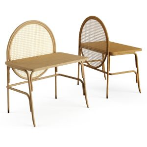 Solid Wood Secretary Desk Gamfratesi Design