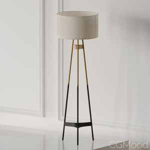 Brace Ombre Floor Lamp Cb2 Exclusive