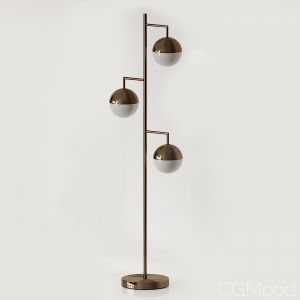 Orbs Champagne Floor Lamp Cb2 Exclusive