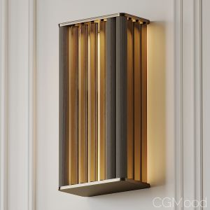 Venicem Numa Wall Sconce In Brass And Glass By Mas