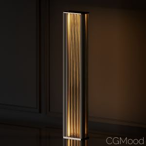 Venicem Numa Floor Light In Brass And Glass By Mas