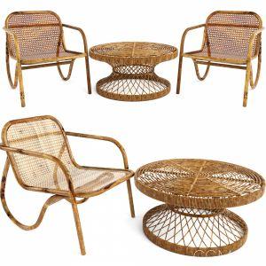 2 Sets Table Coffee Chair N.200 Safavieh Wiener Gt