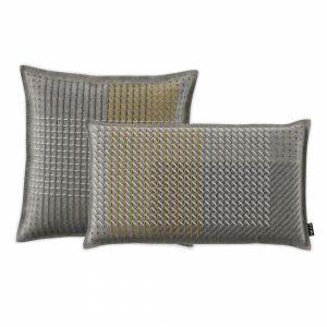 Cushion Canevas Geo Grey By Gan