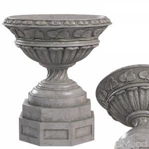 Classic Vase 03. Large Leaf Outdoor Garden Planter