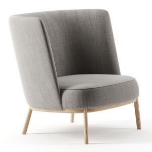 Shift Wood High Armchair By Offecct