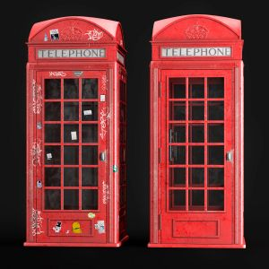 London Telephone Booth Model In Two Versions