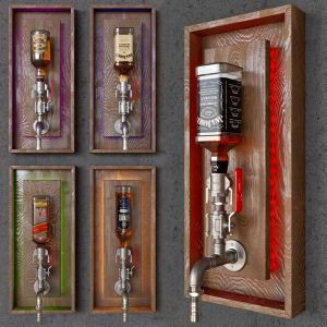 Whiskey Pipe Storage Decor