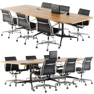 Meeting Table With Office Chair 02