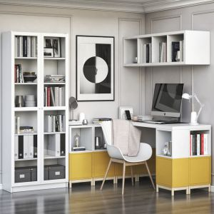 Ikea Corner Workplace With Eket Storages