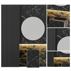 Modern - Black Marble Bathroom