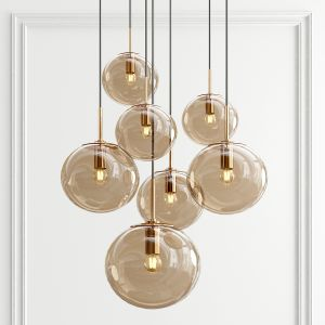 Smoked Glass Pendant Lights By Glashutte