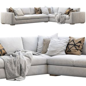 RH Modena Taper Arm L-sectional sofa