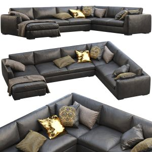 Rh Modena Taper Arm U-sofa Chaise Sectional Sofa