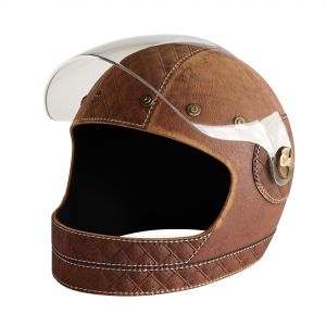 Leather Moto Helmet 3