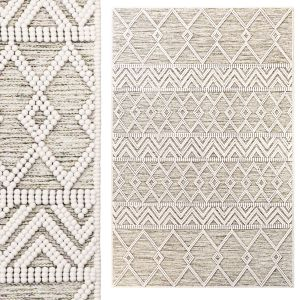 The Curated Nomad Bradrick Trellis Wool Area Rug