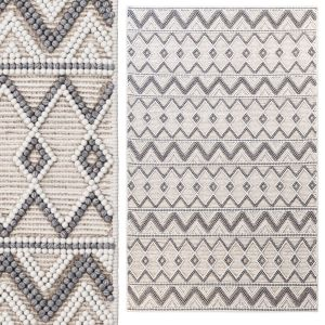 Pirlo Boho Farmhouse Wool Area Rug