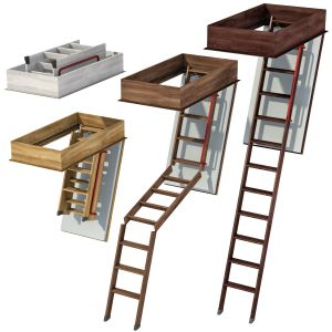 Wooden Folding Loft Ladders