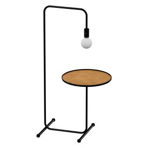 Floor Lamp With Tray Guest Black