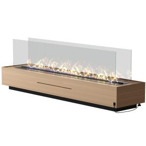 Independent Wooden Fireplace