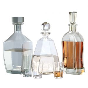 Glass Set Of Decanters