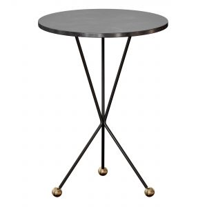 Elan Side Table Black Metal By Noir