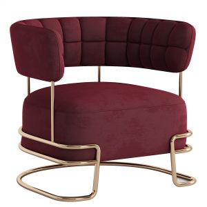 Brass Madison Armchair Cotton Velvet