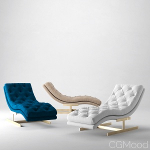 Royce chaise by RH Modern