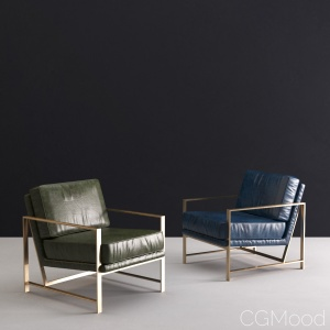 Leather Metal Frame Chairs