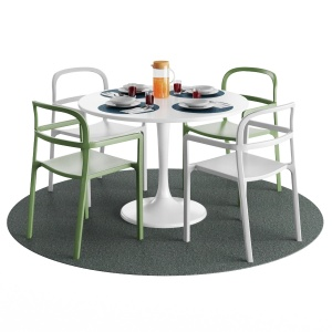 IKEA DOCKSTA Table and YPPERLIG Chair with tableware