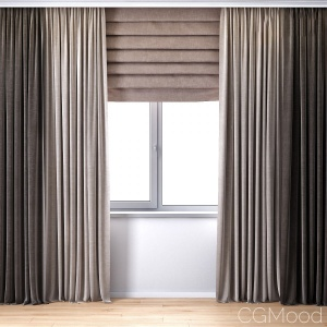 Curtains With Roman Curtain (v-ray + Corona)