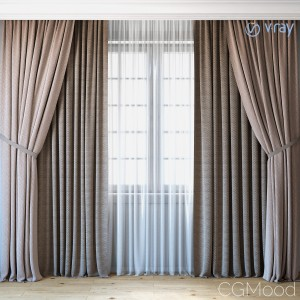 Curtains With Tulle Set 04