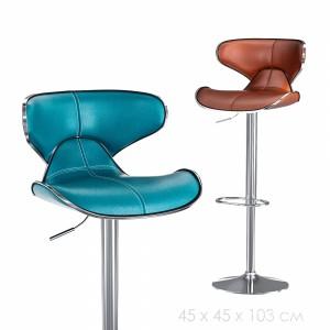 Swivel Faux Leather Adjustable Barstools