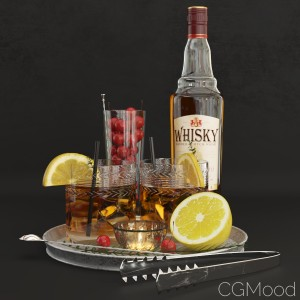 Decorative Set With Whiskey
