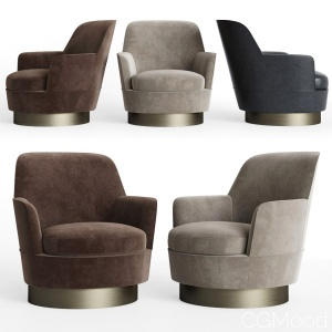 Minotti Jacques High Armchair Fixed