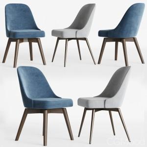 Mid-century Swivel Office Chairs Set Westelm