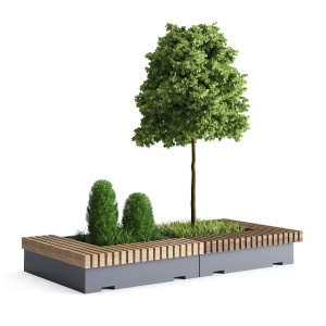 Big Green Benches Tree
