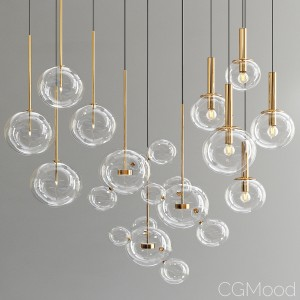 Bolle Glass Pendant Light - 3 Types