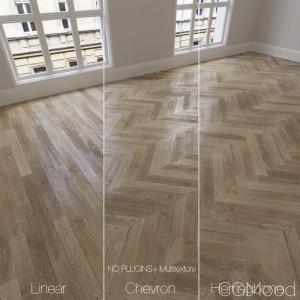 Parquet natural, oak Vintage, 3 types.
