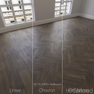 Parquet Natural, Brown Oak, 3 Types.