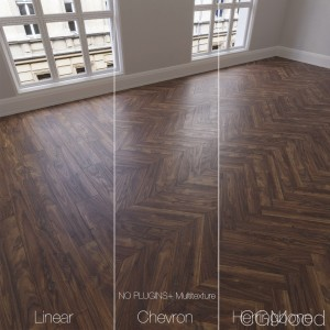Parquet Natural, Walnut Coal, 3 Types.