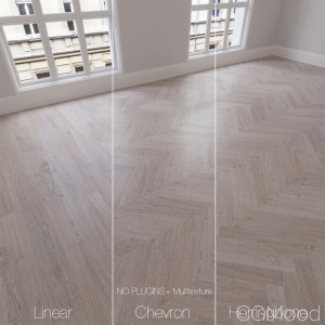 Parquet Natural, Oak Snow, 3 Types.