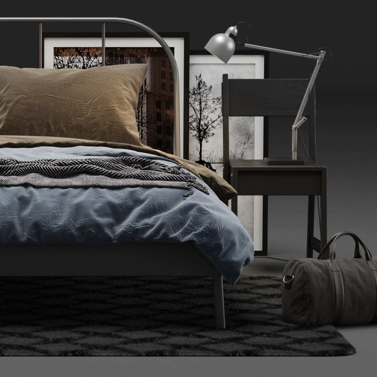info for 373e9 d1a50 Ikea Kopardal Bed - 3D Model for VRay