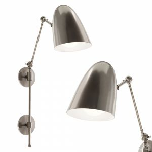 Wall Lamp Ace Sconce 49645 Vintage Silver