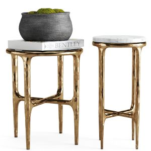 Thaddeus Side Table+concrete Vessel