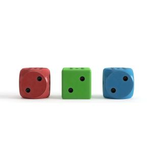 Classic Dice With Different Colors And Shapes