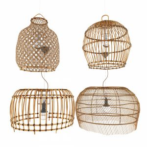 4 Bamboo Hanging Lamp