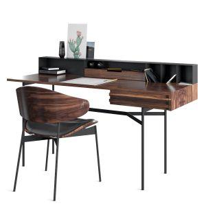 Harri Writing Desk And Luz Chair