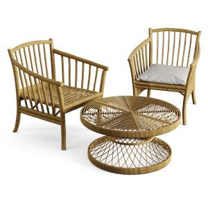 Bamboo Coffee Table And Chair