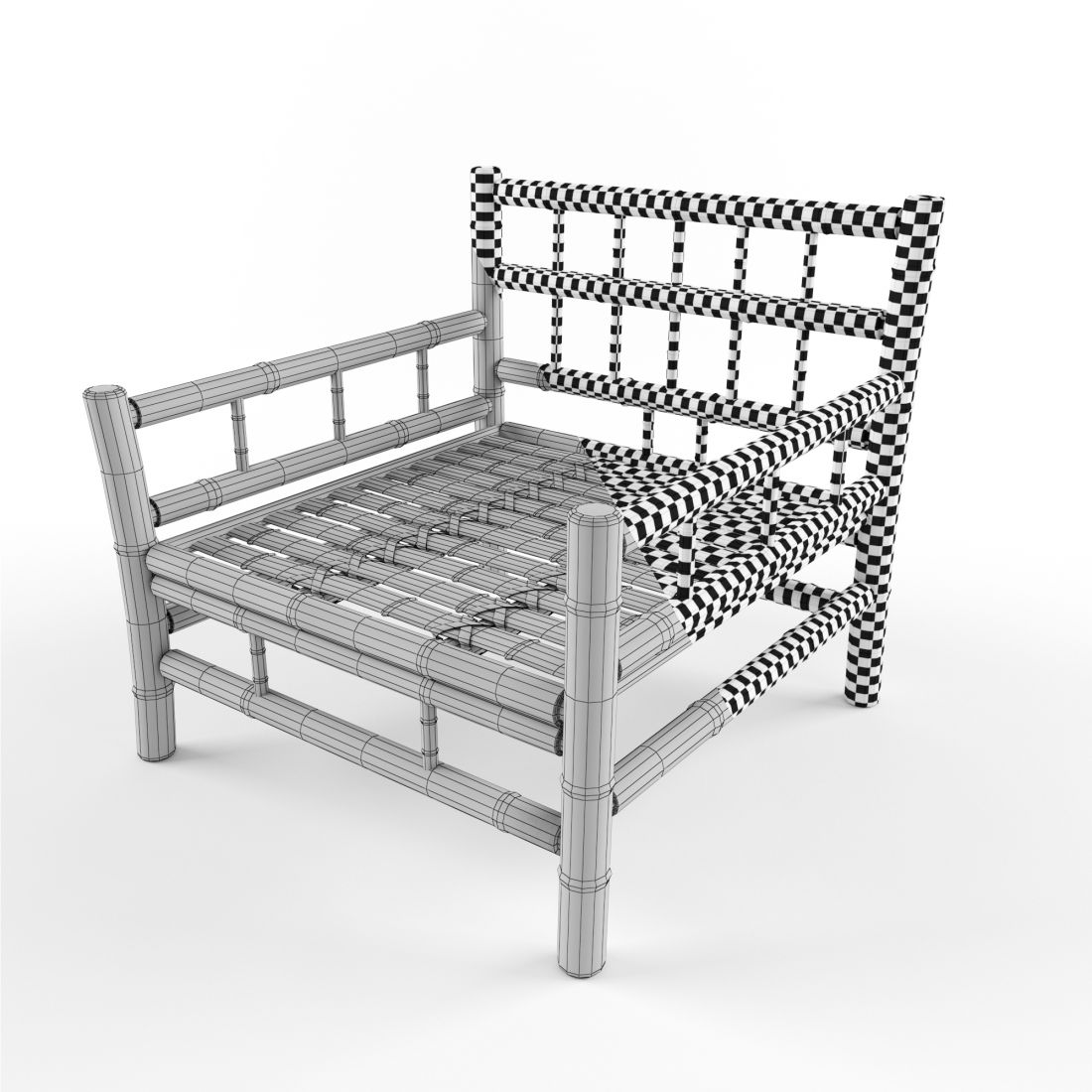 Tine K Home Bamboo Lounge Chair 3D Model for VRay